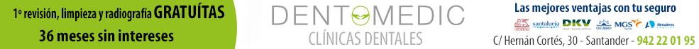 Dentomedic, calle Hernán Cortés, 30. 942 22 01 95. Primera revisión, limpieza y radiografías gratuitas