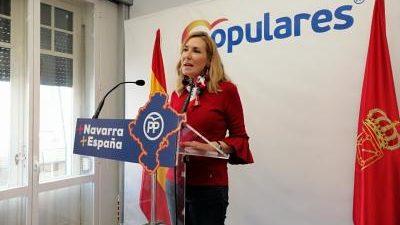 """PAMPLONA, 18 La presidenta del Partido Popular de Navarra, Ana Beltrán, ha manifestado que """"si el PNV condiciona la investidura de Sánchez a cambio de vender Navarra a los nacionalistas, […]"""