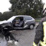 Dos heridos tras una colisión entre dos turismos en Villacarriedo